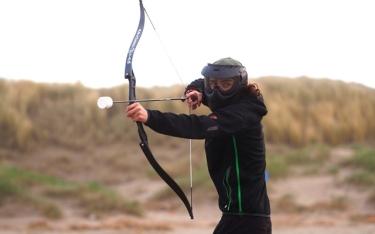 Archery shootout spelende